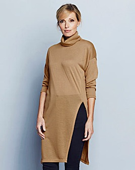 Split Side Roll-Neck Tunic