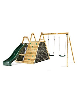 Plum Wooden Pyramid Climbing Frame with