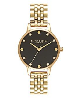 Olivia Burton Midi Dial Classics Screw Detail Gold Bracelet Watch