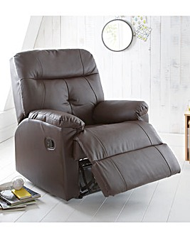 Boston Faux Leather Recliner Chair
