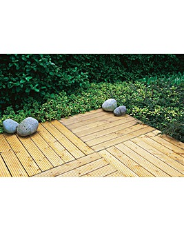 Pack of 4 60cm Forest Patio Deck Tiles