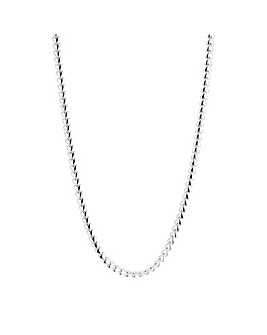 Simply Silver Heart Row Allway Necklace
