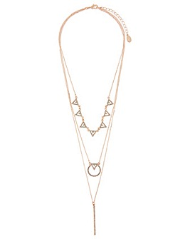 Accessorize Geo Sparkle Layered Pendant