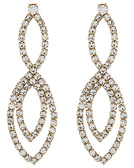 Accessorize Double Diamante Earrings