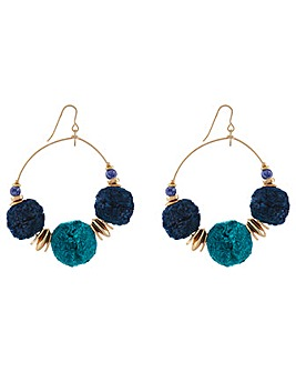 Accessorize Monsoon Pom Pom Hoops
