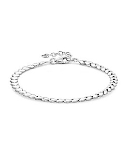 Simply Silver Heart Row Bracelet