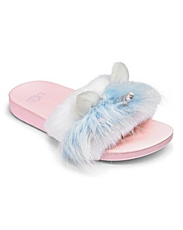 Girls Ugg Unicorn Sliders