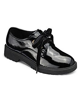 Hi Shine Lace Up School Shoes