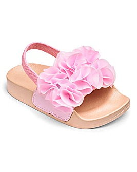 Elasticated Back Floral Sliders