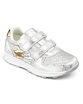 Touch and Close Glitter Trainers