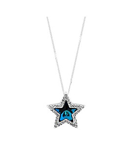 Jon Richard Swarovski Blue Star Necklace