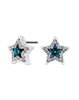 Jon Richard Swarovski Blue Star Earring