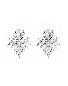 Jon Richard Silver Navette Fan Earring