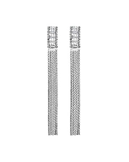 Jon Richard Silver Chain Earrings