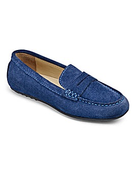 Zachary Boys Suede Slip On Loafers F Fit