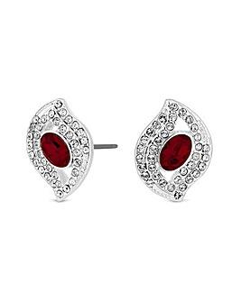Jon Richard Silver Red Stud Earring