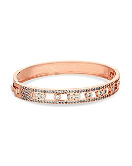 Jon Richard Rose Gold Stone Bangle