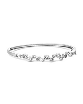 Jon Richard Silver Tennis Wave Bangle