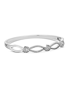 Jon Richard Silver Pave Knot Bangle