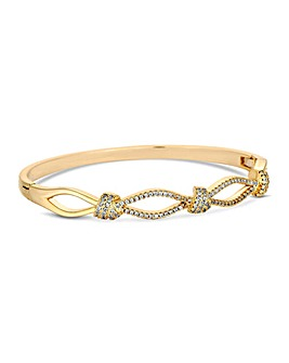 Jon Richard Gold Pave Knot Bangle