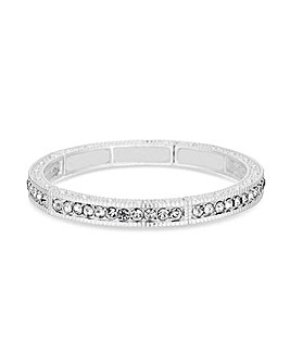 Jon Richard Silver Pave Stretch Bracelet