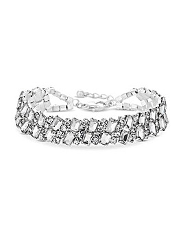 Jon Richard Silver Diamante Bracelet
