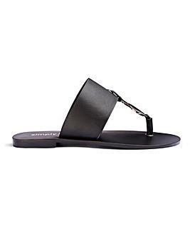 Vida Leather Sandals Wide Fit