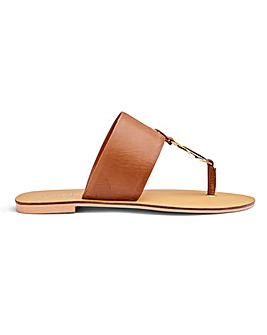 Vida Leather Sandals Wide Fit