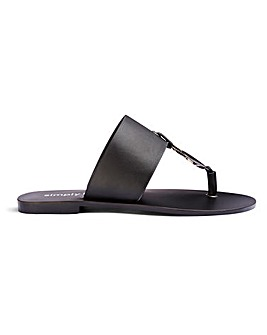 Vida Leather Sandals Extra Wide Fit