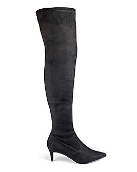 Ste Kitten Heel Boot Standard Wide Fit
