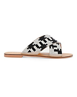 Una Beaded Slip On Sandal Extra Wide