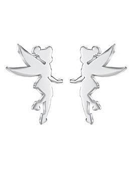 Disney Princess Tinkerbell Sterling Silver Stud Earrings