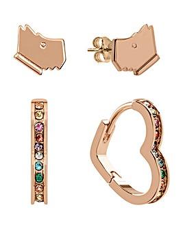Radley Rose Gold Twinpack Earrings