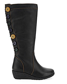 Joe Browns Wedge Knee High S Calf Wide