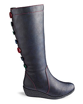 Joe Browns Wedge Boots SC Calf Wide