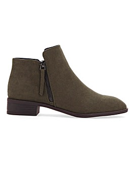 Daffodil Classic Zip Ankle Boot Wide Fit