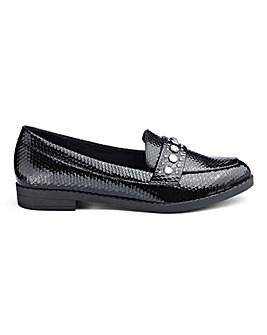Octavia Jewel Detail Loafers Ex Wide Fit