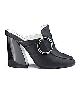 Glamourous Heeled Backless Loafer Mule