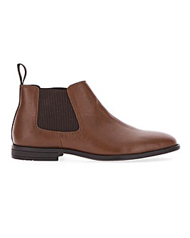 Everett Leather Look Chelsea Boot Wide Fit