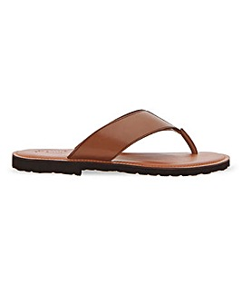 Lighweight Leather Toe Post Wide Fit