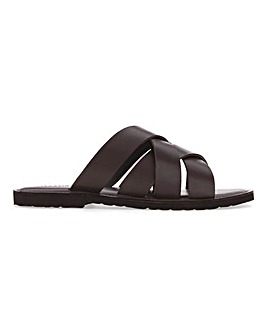 Lightweight Cross Strap Sandal Wide Fit