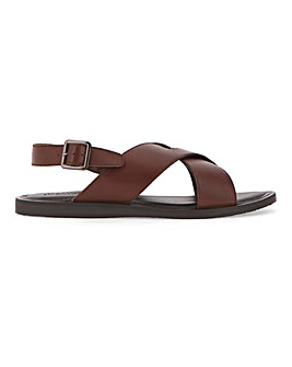 Leather Back Strap Sandal W Fit