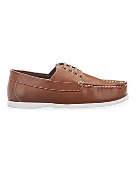 Lightweight Simple Boat Shoe Wide Fit