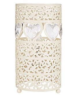 Heart Fretwork Bedside Table Lamp