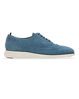 Shepley Premium Suede White Sole Brogue Standard Fit