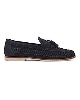Suede Interweave Tassle Loafer
