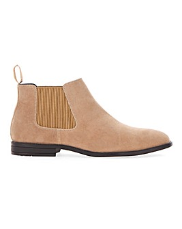 Everett Faux Suede Chelsea Boot Wide Fit