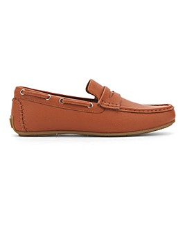 Colbert Leather Look Driving Loafer Wide Fit