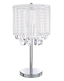 Table lamps indoor lighting lighting home j d williams voiled acrylic drop table lamp keyboard keysfo Choice Image
