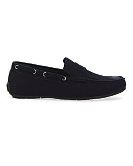 Colbert Faux Suede Driving Loafer Wide